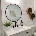 Farmhouse Half Bath Shiplap Makeover