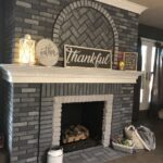 Fireplace Makeover: Grey Paint