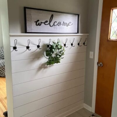 Sharpie Shiplap Entry Way Tutorial