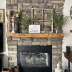Stone Fireplace Farmhouse Makeover
