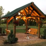 Outdoor Double Swing Pavilion