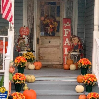 Front Porch Fall Decorating Farmhouse Inspiration