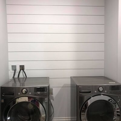 "Vinyl ""Shiplap"" Laundry Room Makeover"