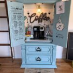 How to Turn an Armoire into a Coffee Bar
