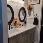 Before and After Farmhouse Bathroom Remodel
