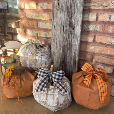 Brown Paper Bag Pumpkins