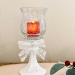 Farmhouse Dollar Tree Glass Pillar Candle Holders