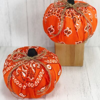 Dollar Tree Bandana Pumpkins