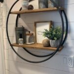 Dollar Tree Hula Hoop Farmhouse Shelf