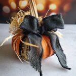 Mason Jar Lid Ring Pumpkins