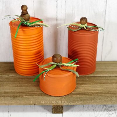 Upcycled Soup Can Pumpkins