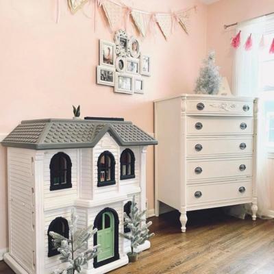 Vintage Barbie House Farmhouse Makeover