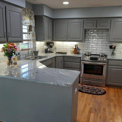 Kitchen Makeover (Benjamin Moore Chelsea Gray Paint)