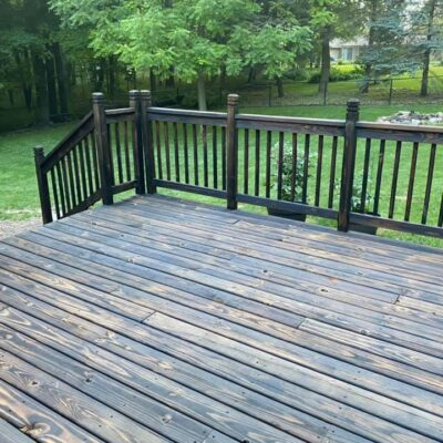 DIY Burnt Wood Deck