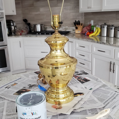 How to Paint Brass Lamps Using Chalk Paint