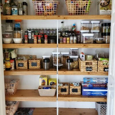 DIY - Covering Wire Shelves in the Pantry