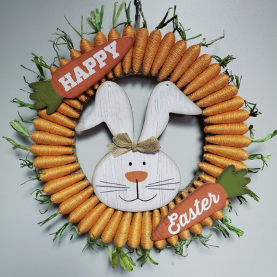 DIY Dollar Tree Easter Wreath