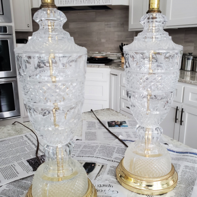 Vintage Glass Lamps Chalk Paint Makeover