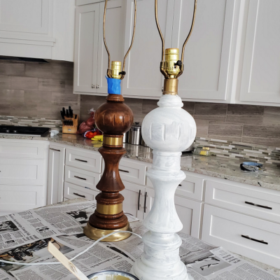 Annie Sloan Chalk Paint Farmhouse Lamp Makeover