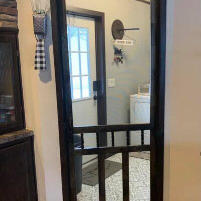 $30 Laundry Room Screen Door Idea