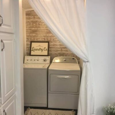 Mobile Home Laundry Room Makeover