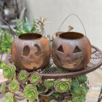 DIY Faux Rust Paint Pumpkin Buckets